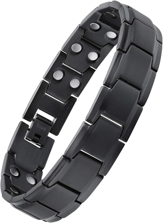 Silver wide small element men arthritis titanium fitness bracelet