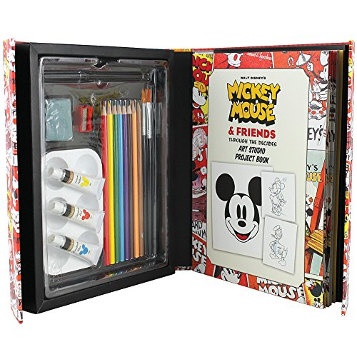 Disney Mickey Mouse & Friends Art Studio Project Book Paints Brushes Pencils]()