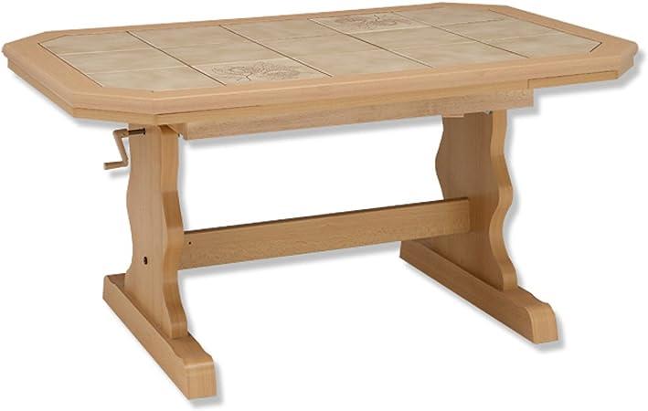 Roller Heinrich Table Basse Hetre Et Metal Carrelage Amazon Fr