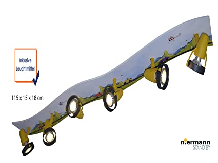 Coole LED Foco orientable regleta XXL 6 focos led de techo ...