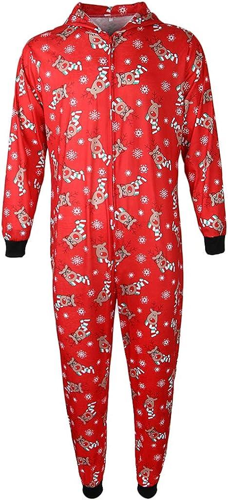 IPOTCH Juego de Pijamas Navidad A Juego Ropa Dormir Mono Capucha Muchachas MujeresDiseño Lindo Llamativo
