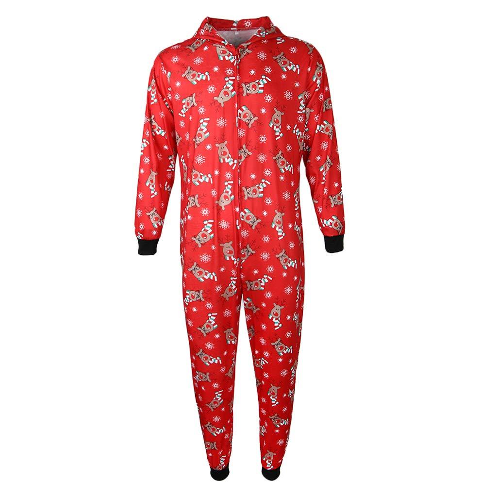 TALLA S (mujer). IPOTCH Juego de Pijamas Navidad A Juego Ropa Dormir Mono Capucha Muchachas MujeresDiseño Lindo Llamativo