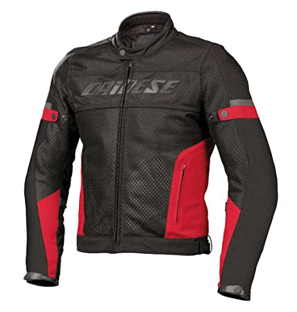 Amazon.com: Dainese Air-Frame Tex Mesh Motorcycle Jacket Black/Red Size 52 Euro/42 US: Automotive