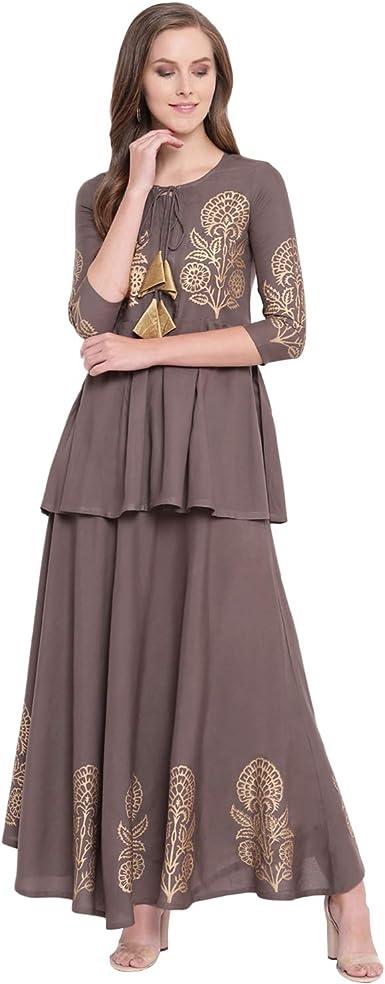 Stylum Multi Designer Women A-Line Multi Design Printed Kurti for Women Tunic Top