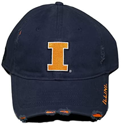 sports shoes 568e2 79853 Image Unavailable. Image not available for. Color  NCAA Signatures New!  University of Illinois Illini - Adjustable Buckle Back Hat Embroidered ...