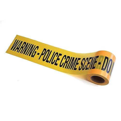 Bristol Novelty GJ439 Crime Scene Tape Practical Joke Set, Unisex-Adult, Yellow/Black, One Size