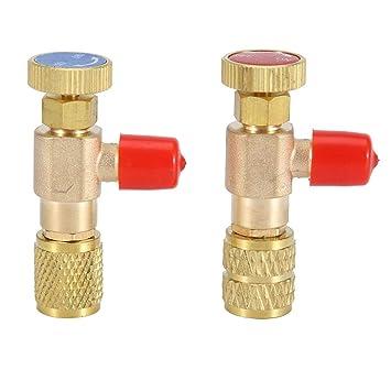 Homyl V/álvula de Seguridad de Compresor de Aire Reabastecimiento Carga de L/íquido Refrigerante R410A