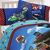 Super Mario Brothers Full Comforter & Sheet Set (5 Piece Bedding)