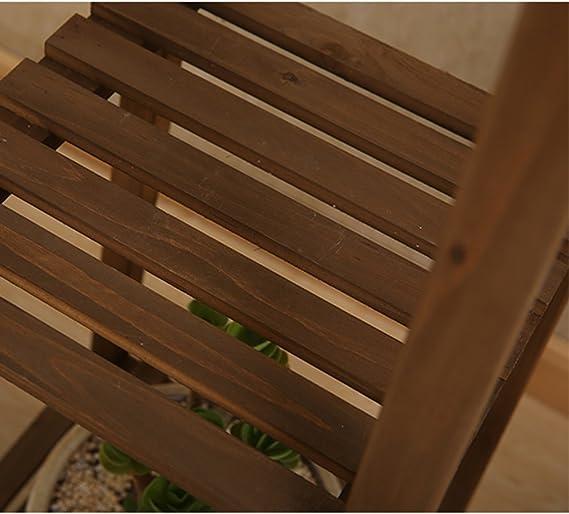 TYCGY Pergola verde planta dormitorio esquina salón flor estante de macetas multi-historia balcón madera maciza araña planta sola madera maciza multicapa simple suelo flor rack: Amazon.es: Hogar