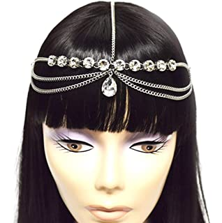 Amazoncom Head Chain Jewelry Wedding Tiara Headpieces with