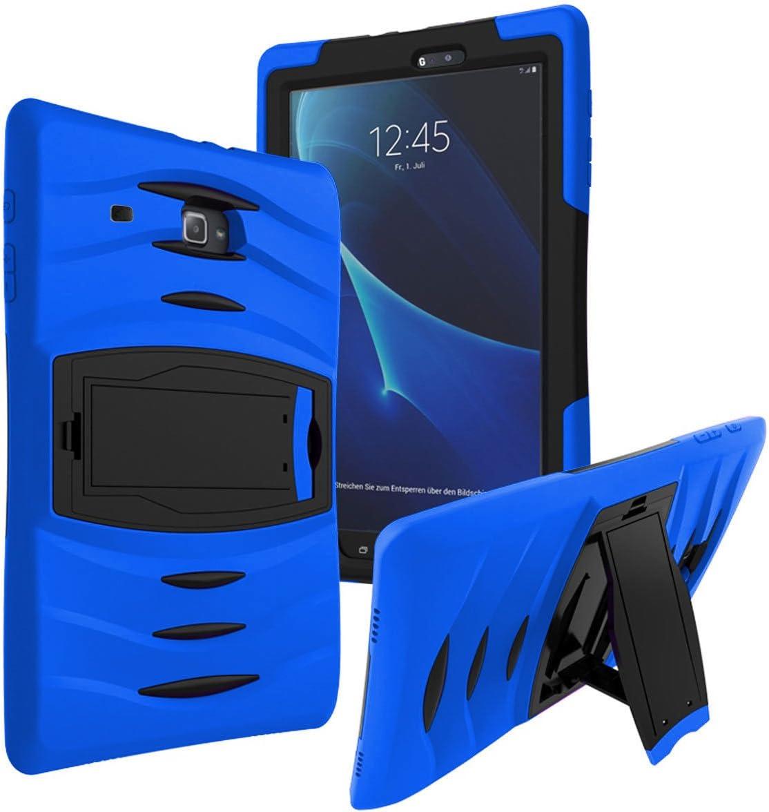 "Galaxy Tab E 7.0 Lite Case SM-T113, KIQ Shockproof Heavy Duty Case, Kickstand, Screen Protector Cover, for Samsung Galaxy Tab E 7.0"" / Tab 3 Lite 7-inch T110/T113/T116/T111 (Armor Blue)"
