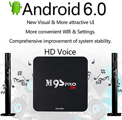 docooler® m9s-pro Smart Android TV Box Android 6.0 Amlogic S905 X Quad Core UHD 4 K 1 G/8 G WIFI H.265 DLNA miracast: Amazon.es: Electrónica
