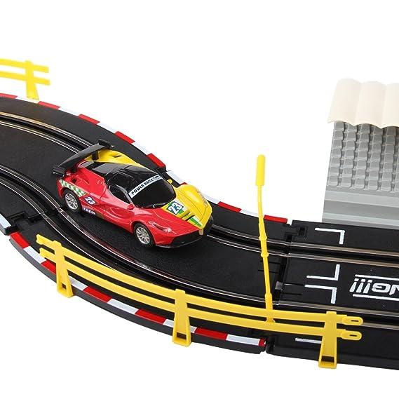 deAO Top Turbo Pista de Carreras Set 1:34 Coches Slot - Circuito Dos Velocidades: Principiante y Experto (3 Metros): Amazon.es: Juguetes y juegos