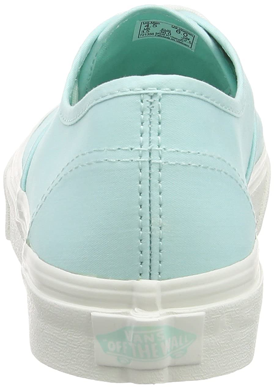 Vans Unisex-Erwachsene Authentic Twill/Blau Slim Sneakers Grün (Brushed Twill/Blau Authentic Light/Blanc De Blanc) 436dbc