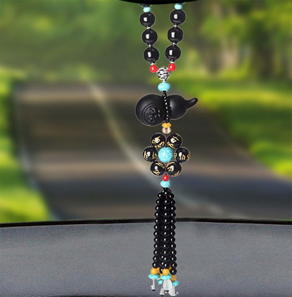 weiwei Car decoration pendant Car rearview mirror obsidian pendant-A