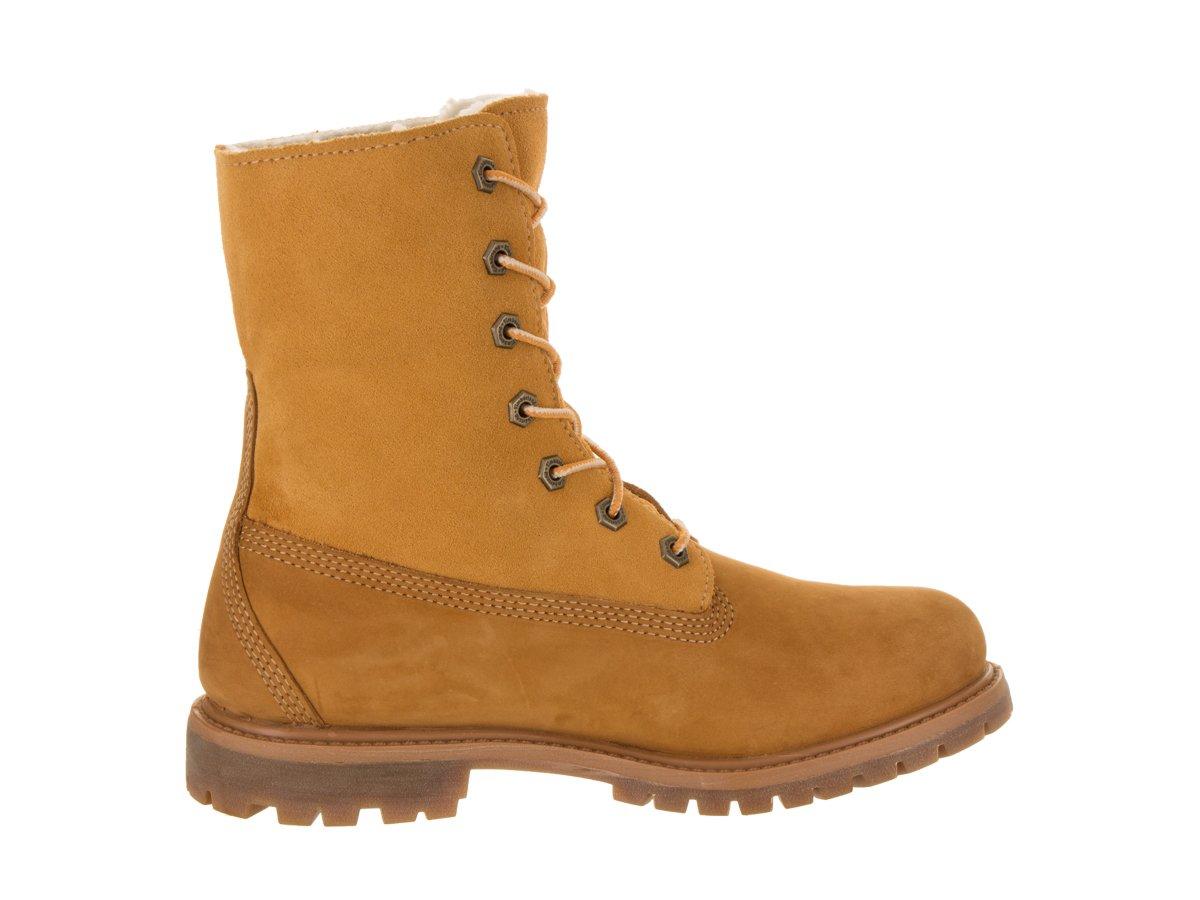 Timberland Women's Teddy Fleece Fold Down WP Boot,Wheat,8.5 M US