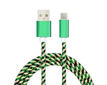 Cable USB tipo C nylon trenzado conectores alta calidad cable cargador tipo C cable usb a