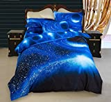 What Is a European King Size Bed 3D Galaxy Colorful Outer Space Night Duvet Cover Set Night Pattern Sparkly Stars Cosmos Mysterious Boundless Bedding Sets Galaxy Sky King Size 3 Pieces