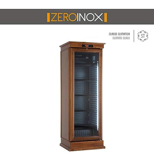 ZeroInox - Nevera de Madera de Roble Oscuro y Roble Blanqueado ...