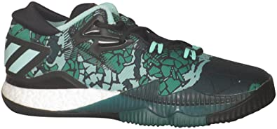 new style f5158 50b09 adidas Men s Sm Cl Boost Low 2016 Hallo Basketball Shoes, Black   Green ...