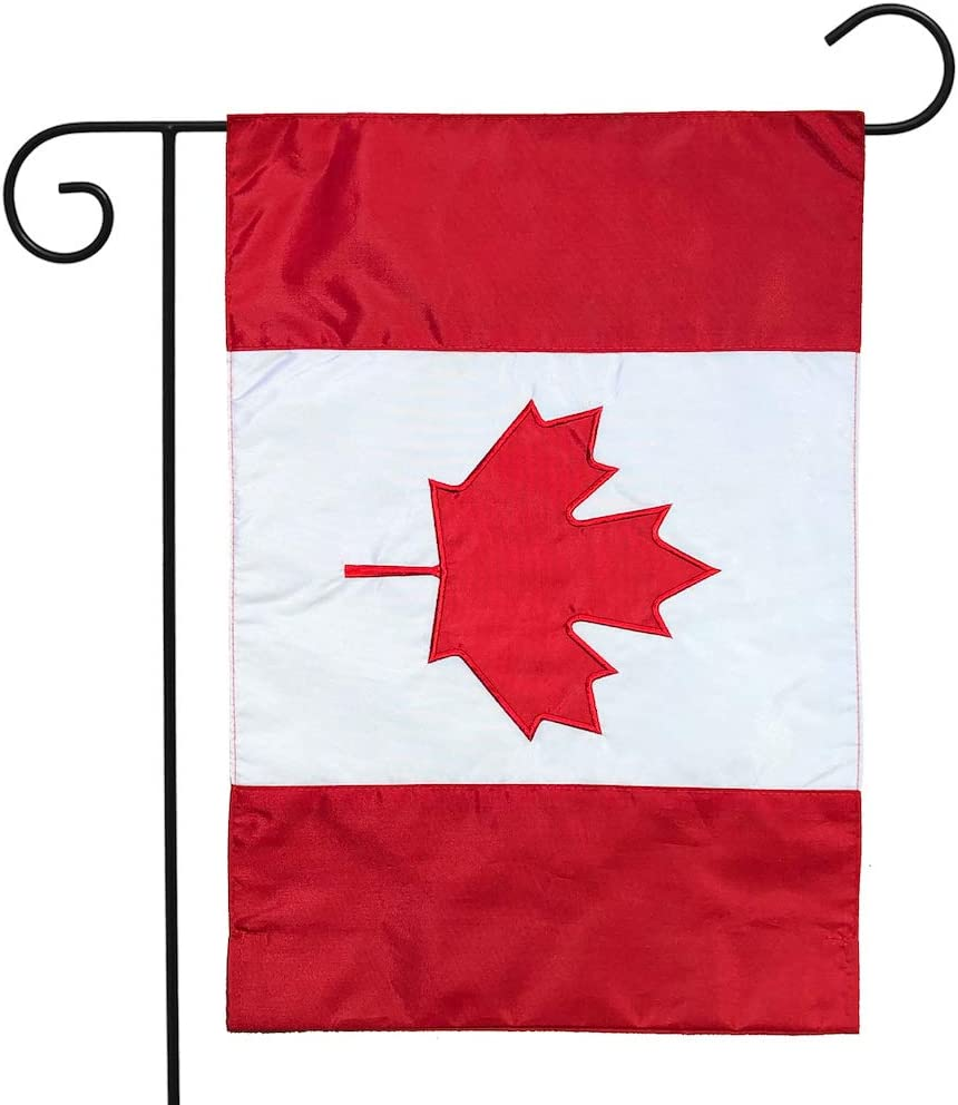 Briarwood Lane Canada Applique & Embroidered Garden Flag Nationality 12.5
