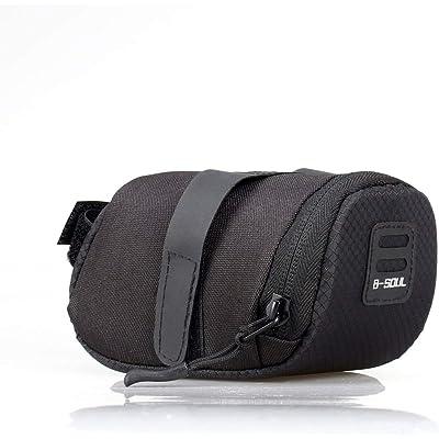 Sairis B-Soul - Accesorios de Ciclismo al Aire Libre, Plegables, Impermeables, para Bicicleta de montaña, Carretera, Bolsa de sillín, Bolsa de sillín para Bicicleta, Cola, Bolsa Trasera, Color Negro