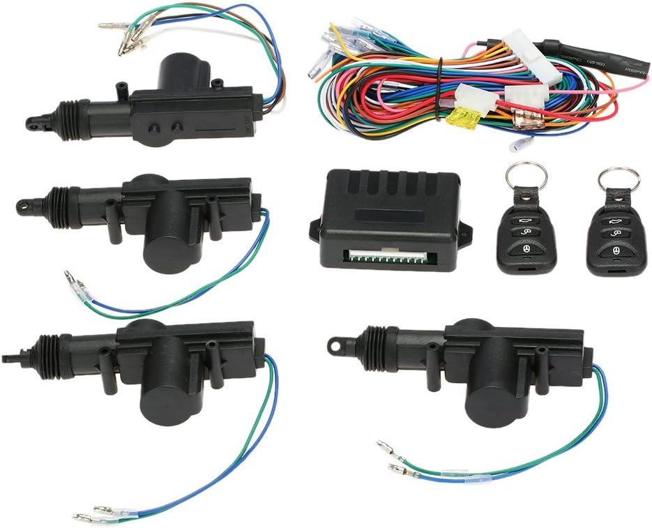 KKmoon Universal Kit de Bloqueo de Control Central Remoto,Sistema de Entrada sin Llave de Cerradura de Puerta de Coche con botón de liberación del tronco