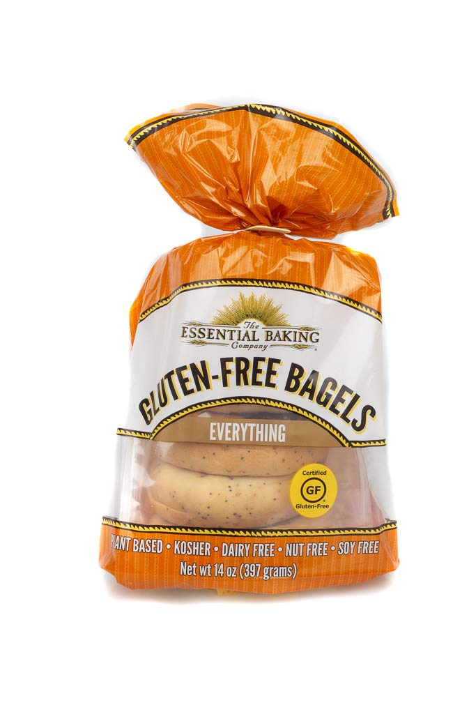 The Essential Baking The Gluten-Free Bagels, Everything, Gluten-Free, Dairy-Free, Nut-Free, Soy-Free, Gluten Free Certified,, 14Count (Pack Of 6)