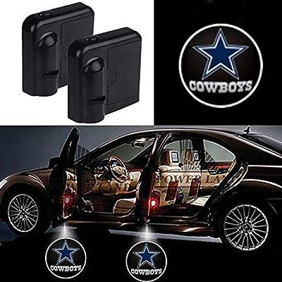 2Pcs Universal Wireless Car Door Lights Logo for Dallas Cowboys Fans,Car Door Led Projector Lights, Upgraded Car Door Welcome Logo Lights for All Car Models: Automotive