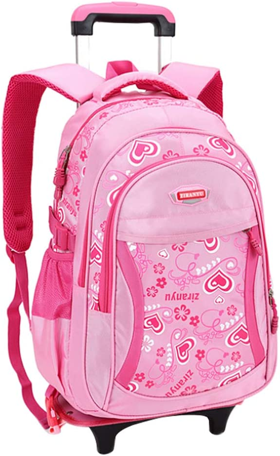 uirend Kids Teenager Detachable Travel Trolley Sweet Girls Student School Bag