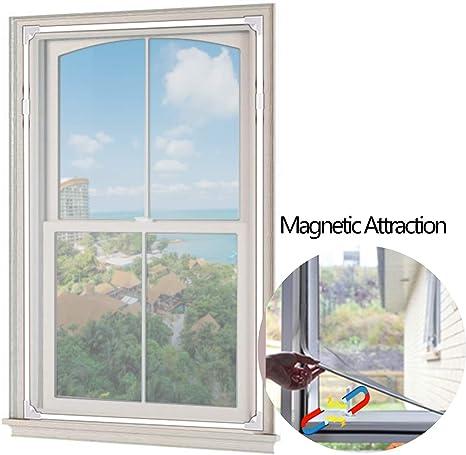 2019 Upgrade] Pantalla magnética ajustable para ventana, 59 pulgadas × 39 pulgadas de malla para ventana de cualquier tamaño – fácil de instalar y desmontar: Amazon.es: Bricolaje y herramientas