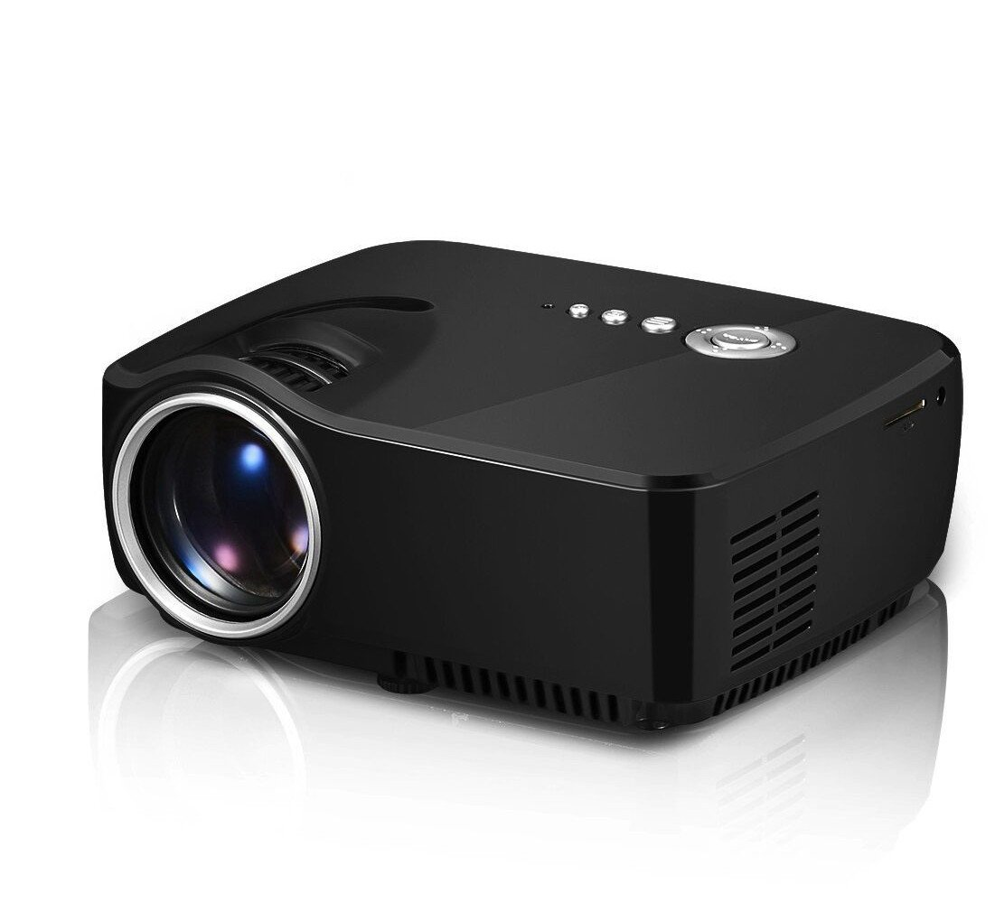 Zeasun 1200 Lumens 800x480 Mini Portable Multimedia Beamer 1080p Video Game Projectors Support USB/TF/VGA/HDMI/AV Port for Home Theater (Black) by Zeasun