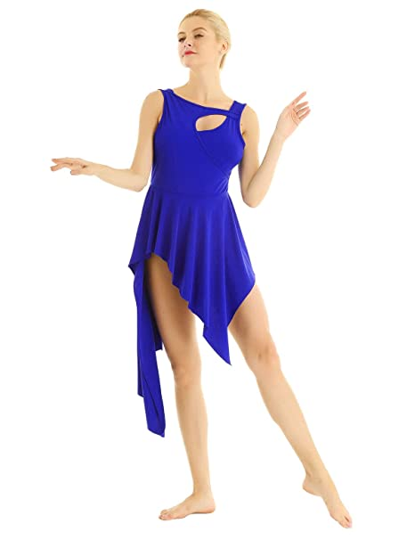 c05c7c7861928 YiZYiF Lyrical Women Ballet High Low Dance Dress Leotard Short Dress with  Sleeveless Crew Neck: Amazon.ca: Clothing & Accessories
