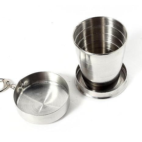Amazon.com: queenfashion 75 ml plegable vaso plegable acero ...