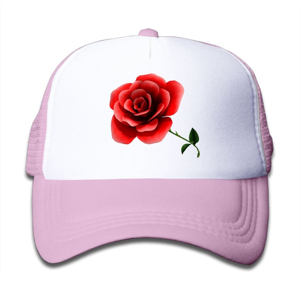 Tazprab Custom Flower-3D Rose Kids Mesh Trucker Cap Hat Adjustable Baseball Caps