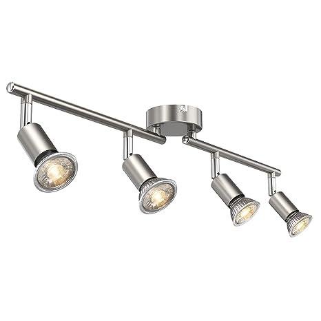 Cenicero orientable - Lámpara LED de techo (Incluye 4 x 5 W ...