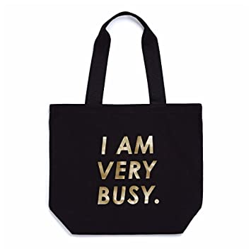 Amazon.com: Ban. do I Am muy ocupado Canvas bolsa Bag: Beauty