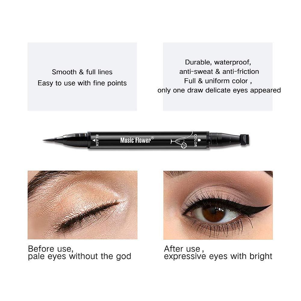 Eyeliner Expressive 1 Piece Fashion Star Eyeliner Pen Black Eye Liner Seal Pencil Liquid Cosmetic Beauty Long Lasting Waterproof Makeup Tool