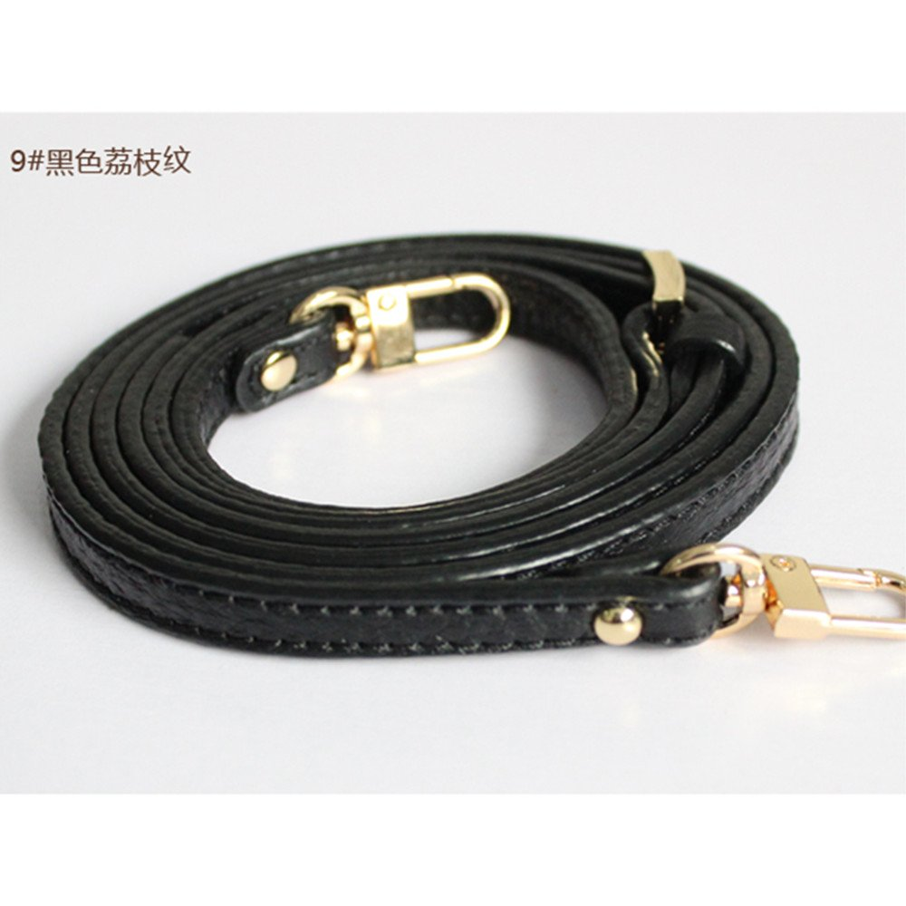 48 inches Lichee Pattern Adjustable Black Leather Strap Golden Hardware for Mini Women Bags/Shoulder Bags/Handbags/Messenger Bags/Purse Bags Wide 1cm Shenzhen ChengLiaozhi Trading Company Ltd.