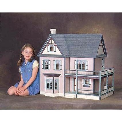 Amazon Com Real Good Toys Victoria S Farmhouse Dollhouse Kit 1
