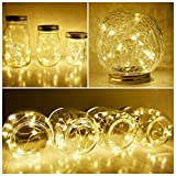 Solar Mason Jar Lid String Lights, 8 Pack 20 Led