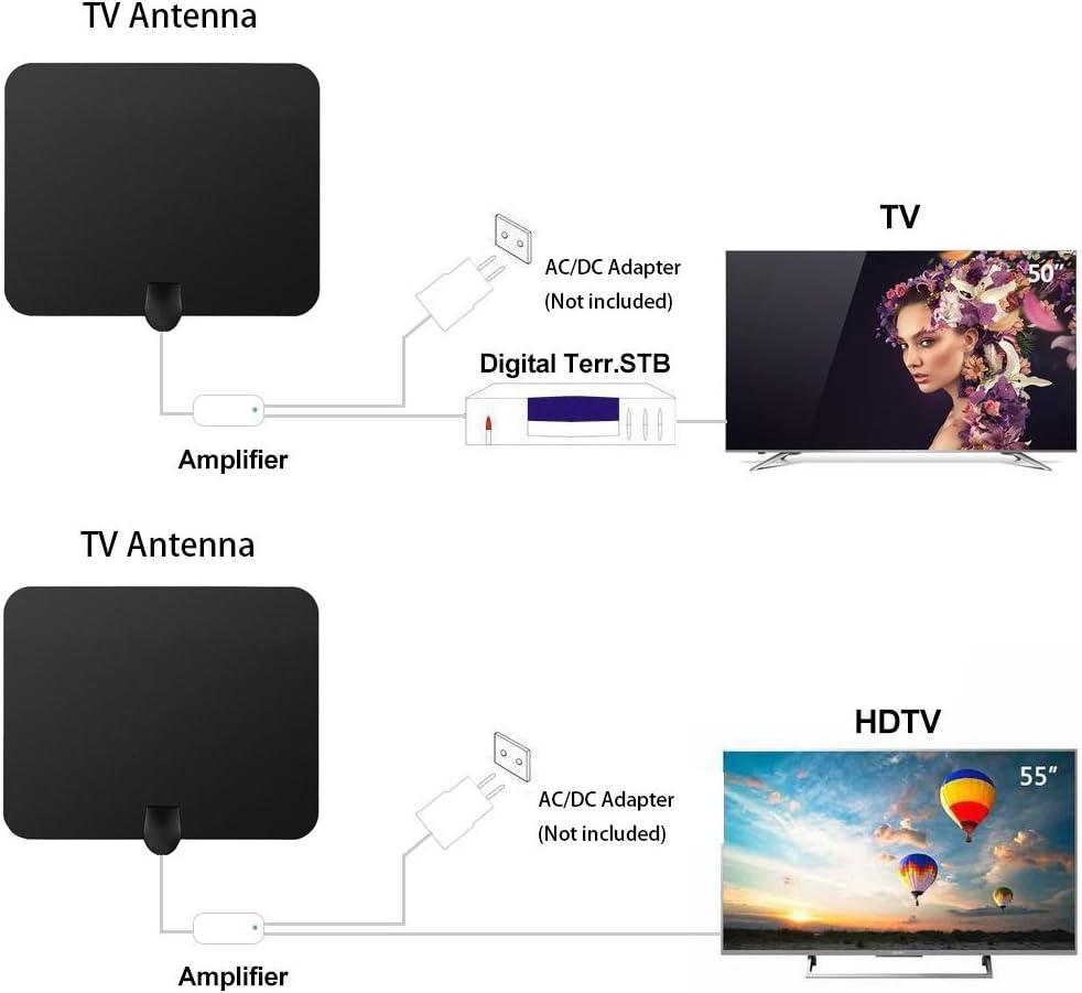 Antena de TV Interior Portátil, TELEV Antena Interior HDTV de ...