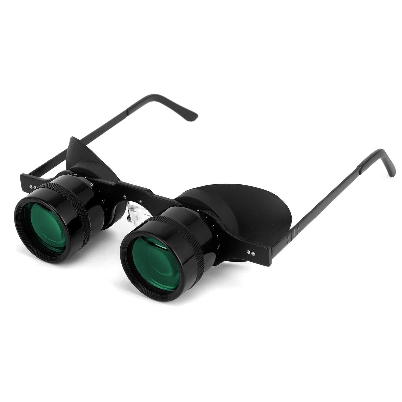 Professional Hands-Free Binocular Glasses for Fishing, Bird Watching, Sports, Concerts, Theater, Opera, TV, Sight Seeing, Hands-Free Opera Glasses for Adults Kids (Green Film Optics)-Upgraded by SENMONUS