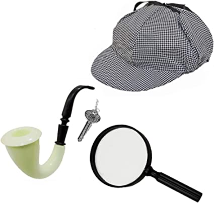 Hat /& Pipe Set Detective Hat and Pipe Accessories for the Classic Detective