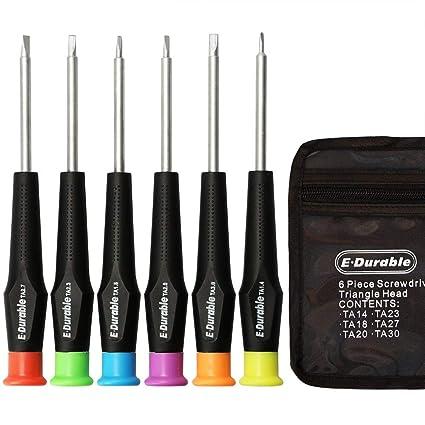 E·Durable triángulo cabeza conjunto de destornilladores, triángulo tornillos kit de herramienta Fix juguetes electrónicos-para Thomas Mcdonalds ...