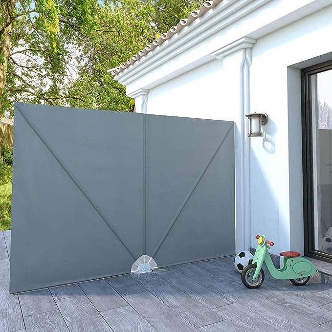 vidaXL Toldo de Terraza Lateral Plegable 300x200 cm Gris Patio ...