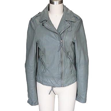 881b5e6d3124 Muubaa Vienna Leather Biker Jacket Anthracite at Amazon Women's ...