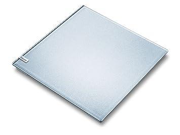 Beurer GS-40 - Báscula baño de vidrio, pantalla invisible, color plateado: Amazon.es: Salud y cuidado personal