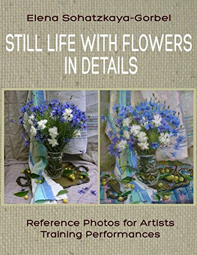 Still Life with Flowers in details: Reference Photos for Artists. Training Performances (Draw a still-life)