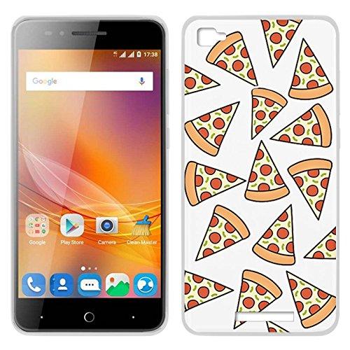 PhonelandCarcasas Funda Carcasa para ZTE Blade A610 Clear Pizza